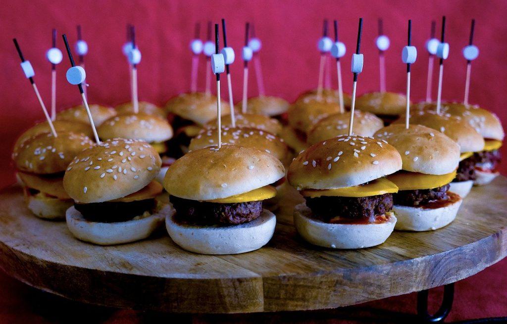 Mini burger traiteur